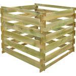 Kompostbeholder vidaXL Kvadratspaltede Træ Kompostbeholder 0.54 m3
