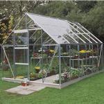 Fritstående drivhus Halls Universal 128 9.9m² Aluminium Glas