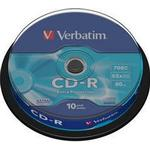 CD Verbatim CD-R Extra Protection 700MB 52x Spindle 10-Pack