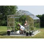 Fritstående drivhus Vitavia Diana 8.3m² Aluminium Glas
