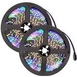 tectake 2 RGB LED Strip 5m