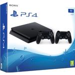 Playstation 4 - Stationær Spillekonsoller Sony PlayStation 4 Slim 1TB - 2x DualShock 4 V2