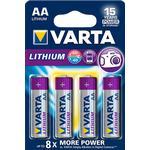 Engangsbatterier Varta Lithium AA 4-pack
