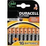 Engangsbatterier Duracell AAA Plus Power 16-pack