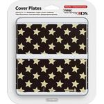 Nintendo Cover Plate 016 - Black and Gold Star Design (New Nintendo 3DS)