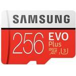 Hukommelseskort Samsung EVO Plus MicroSDXC Class 10 UHS-I U3 100/90MB/s 256GB+Adapter