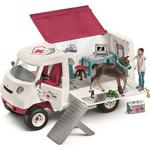 Legetøj Schleich Mobile Vet with Hanovarian Foal 42370