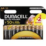 Engangsbatterier Duracell AA Plus Power 10-pack