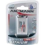 Batterier til lommelygter Ansmann Extreme Lithium 9V Compatible