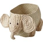 Opbevaringskurve Børneværelse Rice Woven Storage Elephant