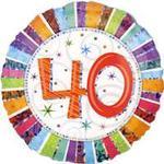 Folieballon Amscan Standard Radiant Birthday 40 (1607001)