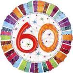 Folieballon Amscan Standard Radiant Birthday 60 (1607201)