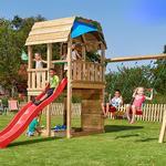 Klatrestativ Jungle Gym Barn Playtower with Swing Module & 2 Swings 805-287