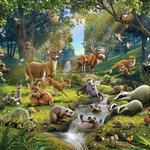 Fototapet Walltastic Animals Of The Forest (43060)
