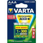 Kamerabatterier Varta AAA Accu Rechargeable 1000mAh 4-pack