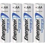 Engangsbatterier Energizer AA Ultimate Lithium Compatible 4-pack