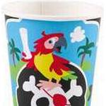 Amscan Paper Cup Pirate 250ml 8-pack