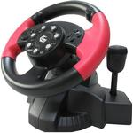 PS2 Spil Controllere Gembird STR-MV-02 Steering Wheel (PC/PS2/PS3)