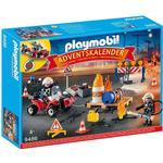 Playmobil Redningsaktion ved brand på byggepladsen Julekalender 2018 9486