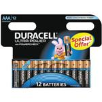 Batterier til lommelygter Duracell Ultra Power AAA Compatible 12-pack