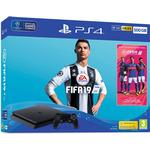 Spillekonsoller på tilbud Sony PlayStation 4 Slim 500GB - Fifa 19 Bundle