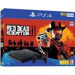 500GB Spillekonsoller Sony PlayStation 4 Slim 500GB - Red Dead Redemption II