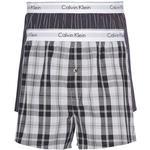 Klassiske Bokseshorts Undertøj Calvin Klein Modern Cotton Slim Fit Boxer 2-pack - Ryan Stripe D Well/Hickory Plaid B