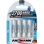 Batterier til lommelygter Ansmann NiMH Mignon AA 2700mAh Compatible 4-pack