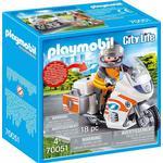 Legetøjsmotorcykel Playmobil Emergency Motorbike 70051