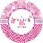 Amscan Plates Shower With Love Girl 8-pack