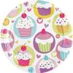 Tallerkener Amscan Plates Cupcake 8-pack
