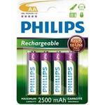 Genopladelige batterier Philips R6B4RTU25/10 Compatible 4-pack