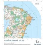 Andet format - Rejse & Ferie Bøger Trap Danmark: Falset kort over Helsingør Kommune: Topografisk kort 1:75.000 (Ukendt format, 2018)