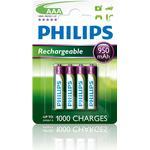 Genopladelige batterier Philips R03B4A95/10 Compatible 4-pack