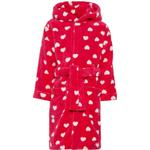 Drenge - Morgenkåbe Børnetøj Name It Mini Heart Patterned Bathrobe - Pink/Virtual Pink (13160407)