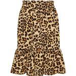 Flæsenederdel Børnetøj Name It Kid's Leopard Printed Skirt - Brown/Black (13174106)