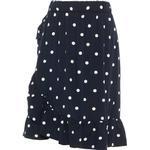 Flæsenederdel Børnetøj Name It Kid's Dotted Wrap Skirt - Blue/Dark Sapphire (13166711)