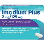 Diarré Imodium Plus 2mg/125mg 12stk