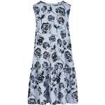 Hverdagskjole Børnetøj Creamie Roses Dress - Xenon Blue (821046-7749)