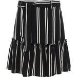 Flæsenederdel Børnetøj Name It Teen Striped Viscose Skirt - Black/Black (13172725)