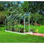 Halls Qube 66 3.8m² 3mm Aluminium Glas, Hærdet glas