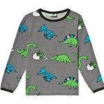 T-shirt Børnetøj Småfolk T-shirt Dino - Wild Dove (91-0007)