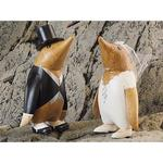 Brugskunst Dcuk Penguin Bridal Couple Dekorationsfigur