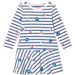 Hverdagskjole Børnetøj Tom Joule Josie Jersey Printed Dress - Cream Stripe Glitter Bugs (201405)