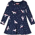 Hverdagskjole Børnetøj Tom Joule Josie Jersey Printed Dress - Navy Unicorn (201405)