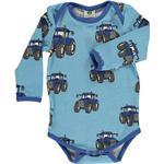 Body Børnetøj Småfolk Body Big Tractor - Air Blue (91-3010)