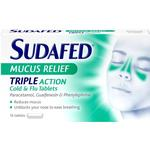 Sudafed Mucus Relief Triple Action 16stk