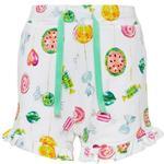Shorts Børnetøj Name It Mini Fruity Printed Shorts - White/Bright White (13168402)
