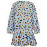 Flæse kjole Børnetøj Mads Nørgaard Flower Stripe Pop Decimana - Multi (60780)