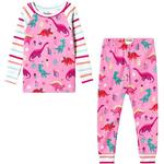 Pyjamas Børnetøj Hatley Darling Dinos Raglan Pajama Set - Pink (S19PDK1269)
